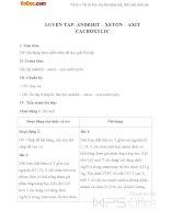 Giáo án Hóa học 11 bài 46: Luyện tập Anđehit - Xeton và Axit Cacboxylic