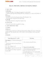 Giáo án Vật lý 8 bài 25: Phương trình cân bằng nhiệt