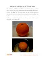Học mẹ Nhật cách trị ho cho con bằng cam nướng