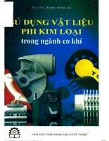 Ebook sử dụng vật liệu phi kim loại trong ngành cơ khí  phần 1