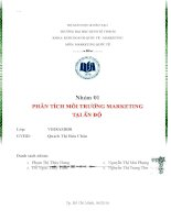 Tiểu luận môn marketing quốc tế phân tích môi trường marketing tại ấn độ