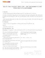 Giáo án Hóa học 8 bài 35: Bài thực hành 5 Điều chế - Thu khí hiđro. Thử tính chất của khí hiđro