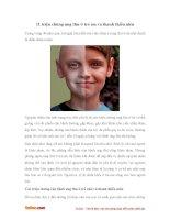 Những triệu chứng ung thư ở trẻ em và thanh thiếu niên
