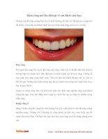 Hàm răng nói lên điều gì về sức khỏe của bạn