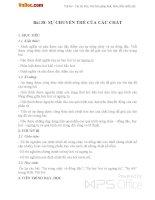 Giáo án Vật lý 10 bài 38: Sự chuyển thể của các chất