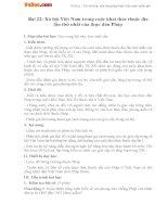 Giáo án Lịch sử 11 bài 22: Xã hội Việt Nam trong cuộc khai thác lần thứ nhất của thực dân Pháp