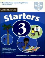 Starters 3 anwers booklet
