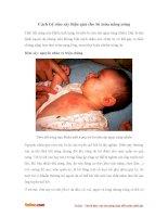 Cách trị rôm sảy hiệu quả cho bé trong mùa nắng nóng