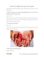 Trắc nghiệm hiểu biết của bạn về bệnh ung thư