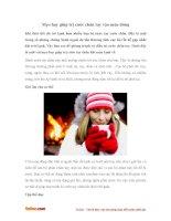 Mẹo hay giúp trị cước chân tay vào mùa đông