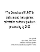 The Overview of FLEGT in Vietnam and management orientation on forest products processing by 2020