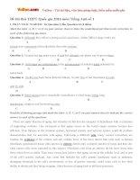Bộ đề thi thử THPT Quốc gia năm 2016 môn Tiếng Anh - Số 14