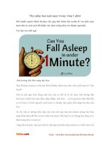 Mẹo giúp bạn ngủ ngay trong vòng 1 phút