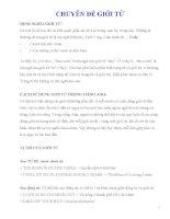 TÀI LIỆU ôn THI TIẾNG ANH vào lớp 10 CHUYÊN đề GIỚI từ