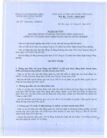 Nghị quyết Đại hội cổ đông thường niên năm 2010 - Công ty Cổ phần Bảo hiểm Ngân hàng Nông nghiệp