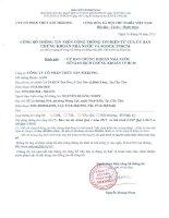 Báo cáo tài chính quý 1 năm 2015 - Công ty Cổ phần Thủy sản Mekong