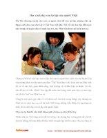 Học cách dạy con tự lập của người Nhật