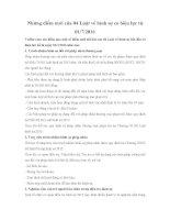 Những điểm mới của 04 Luật về hình sự có hiệu lực từ 01/7/2016