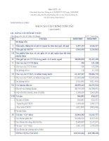 Báo cáo tài chính quý 3 năm 2009 - Ngân hàng Thương mại Cổ phần Á Châu