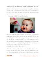 Những điều mẹ cần biết về việc nêm gia vị trong thức ăn của bé