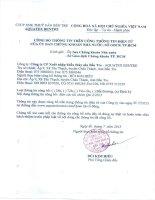 Báo cáo tài chính quý 2 năm 2015 - Công ty Cổ phần Xuất nhập khẩu Thủy sản Bến Tre