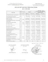 Báo cáo KQKD quý 4 năm 2009 - Công ty Cổ phần Thủy sản Mekong