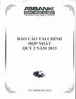 Báo cáo tài chính hợp nhất quý 2 năm 2015 - Ngân hàng Thương mại cổ phần An Bình