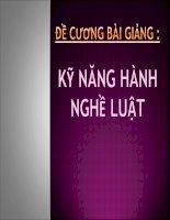 Đề cương bài giảng Kỹ năng hành nghề Luật Đại học kinh tế Tp Hồ Chí Minh
