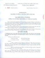 Nghị quyết Đại hội cổ đông thường niên năm 2011 - Công ty Cổ phần Bê tông ly tâm An Giang