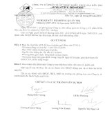 Nghị quyết Hội đồng Quản trị ngày 24-5-2011 - Công ty Cổ phần Xuất nhập khẩu Thủy sản Bến Tre