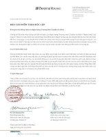 Báo cáo tài chính năm 2009 (đã kiểm toán) - Ngân hàng Thương mại cổ phần An Bình