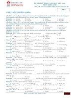 Bộ đề thi thử THPT Quốc gia năm 2016 môn Tiếng Anh - Số 8