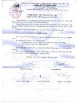 Nghị quyết Hội đồng Quản trị ngày 9-4-2011 - Công ty Cổ phần Xuất nhập khẩu Thủy sản Bến Tre