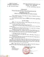 Nghị quyết Hội đồng Quản trị - Công ty Cổ phần Bê tông ly tâm An Giang