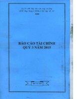 Báo cáo tài chính công ty mẹ quý 3 năm 2015 - Công ty cổ phần Xuất nhập khẩu Thủy sản Cửu Long An Giang