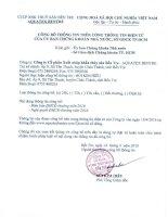 Nghị quyết Đại hội cổ đông thường niên - Công ty Cổ phần Xuất nhập khẩu Thủy sản Bến Tre