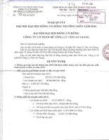 Nghị quyết Đại hội cổ đông thường niên - Công ty Cổ phần Bê tông ly tâm An Giang