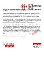 Bộ 99 bài mẫu band 9 IELTS Writing task 2 ( giasudaihocngoaithuong )