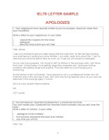 54 IELTS letter samples in theme ( IELTS Writing task 1 )