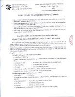 Nghị quyết Đại hội cổ đông thường niên năm 2011 - Công ty cổ phần Xuất nhập khẩu Thủy sản Cửu Long An Giang