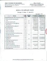 Báo cáo tài chính quý 4 năm 2013 - Công ty Cổ phần Thủy sản Mekong