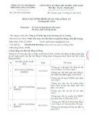 Báo cáo tình hình quản trị công ty - CTCP Tập đoàn Khoáng sản Á Cường