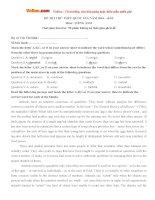 Bộ đề thi thử THPT Quốc gia năm 2016 môn Tiếng Anh - Số 15
