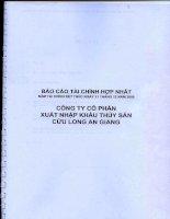 Báo cáo tài chính năm 2009 (đã kiểm toán) - Công ty cổ phần Xuất nhập khẩu Thủy sản Cửu Long An Giang