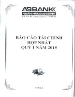 Báo cáo tài chính hợp nhất quý 1 năm 2015 - Ngân hàng Thương mại cổ phần An Bình