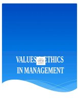 values and ethics in management