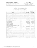 Báo cáo tài chính quý 4 năm 2011 - Công ty Cổ phần Thủy sản Mekong