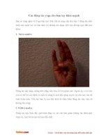 Bài tập yoga cực hay cho bàn tay