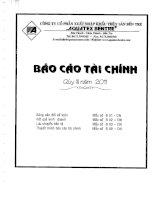 Báo cáo tài chính quý 3 năm 2011 - Công ty Cổ phần Xuất nhập khẩu Thủy sản Bến Tre