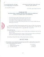 Nghị quyết Đại hội cổ đông thường niên - Công ty Cổ phần Thủy sản Mekong